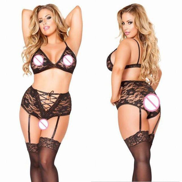 Plus Size Lingerie Sexy Hot Erotic Lace Underwear