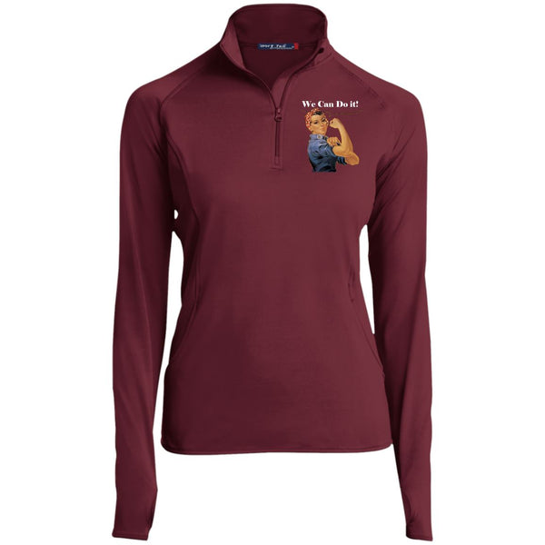 Women's Vintage 1/2 Zip Performance Pullover Pullover Maroon X-Small