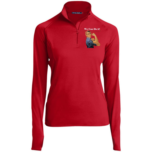 Women's Vintage 1/2 Zip Performance Pullover Pullover True Red X-Small