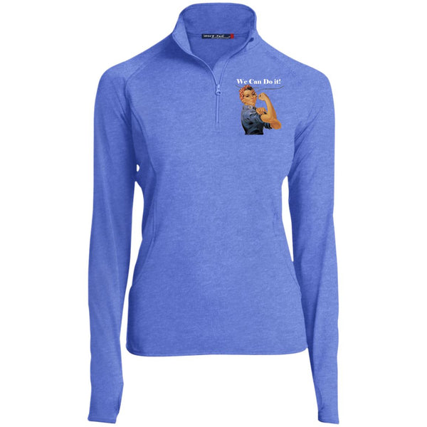 Women's Vintage 1/2 Zip Performance Pullover Pullover True Royal Heather X-Small