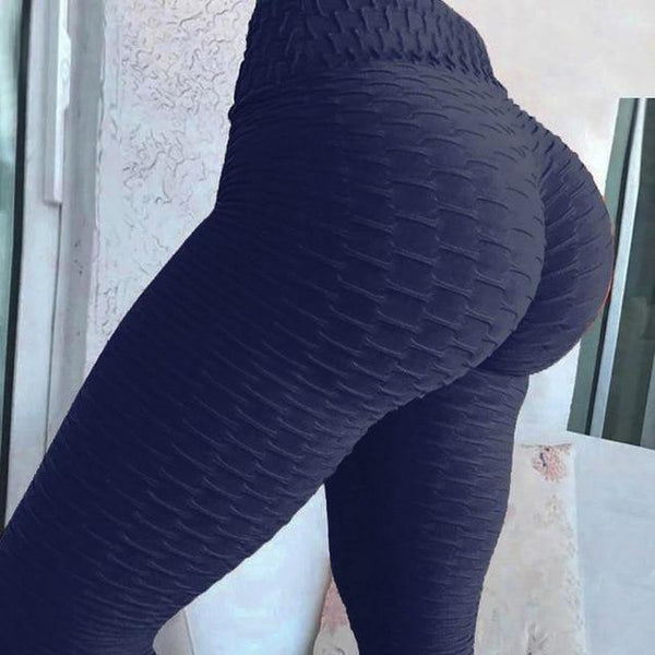 Yoga Pants Tummy Control Slimming Booty Leggings Workout Running Butt Lift Tights leggings Black S Far East