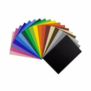 10 Mixed Colours Cardboard Set - Embossed Cards
