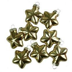 8 pcs Shiny Gold Star Ornament for Xmas Trees