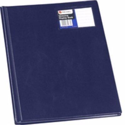 A4 Hard Cover Display File - 12 Pocket  Blue