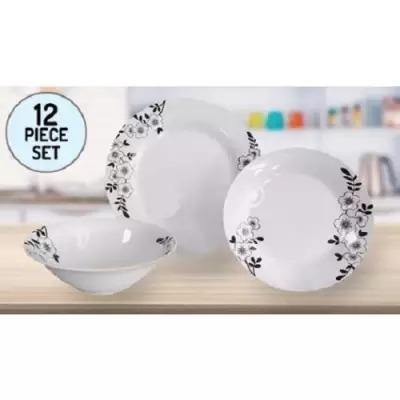 Avante 12-Piece Porcelain Dinner Set Blossom