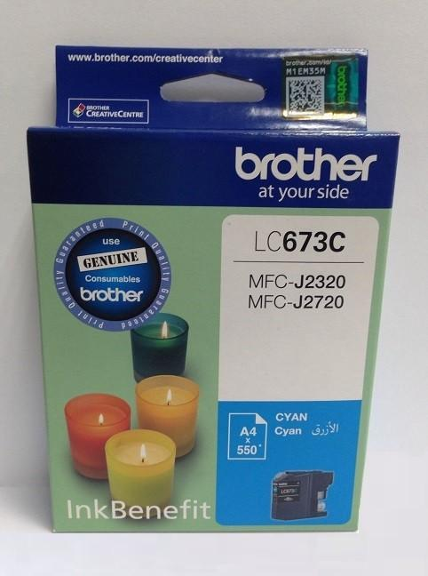 Brother LC 673 Cyan Cartridge