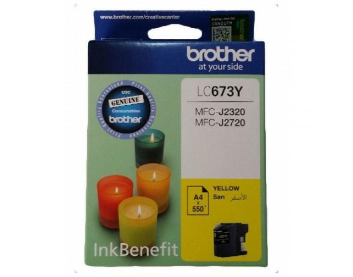 Brother LC 673 Yellow Cartridge