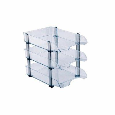 Clear Acrylic Document Tray - 3 Tier