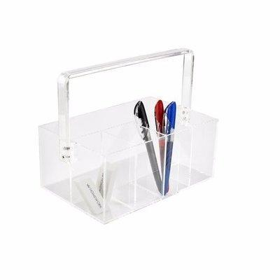 Clear Acrylic Organizer with Handle