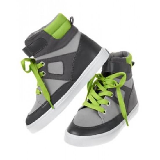 Colour Block High Top Sneakers