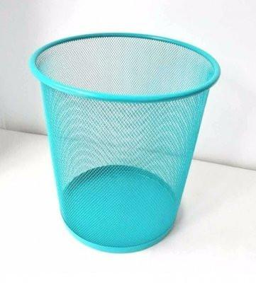 Coloured Wire Mesh Bin- Blue