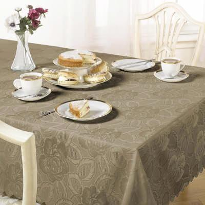 "Damask rose table cloth 70"" x 108"""