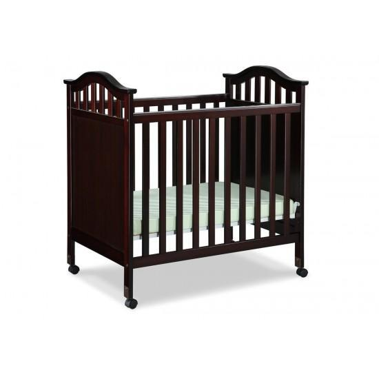 Delta Bella Mini Crib with Mattress Espresso