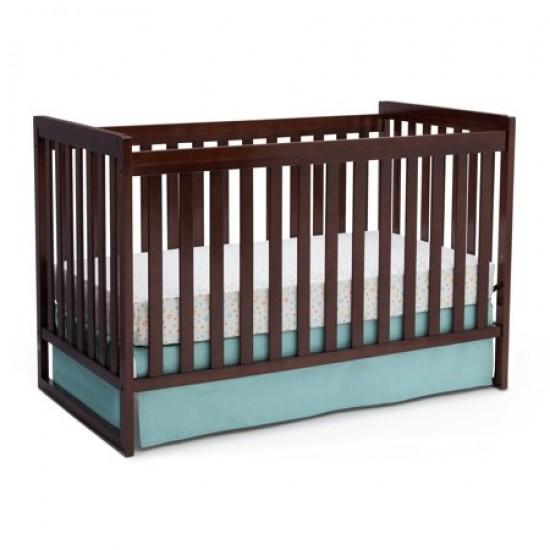 Delta Children Urban Classic 3 in 1 Crib with Mattress and Pillow