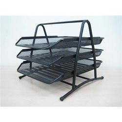 Document File Tray- 3 Tiers black
