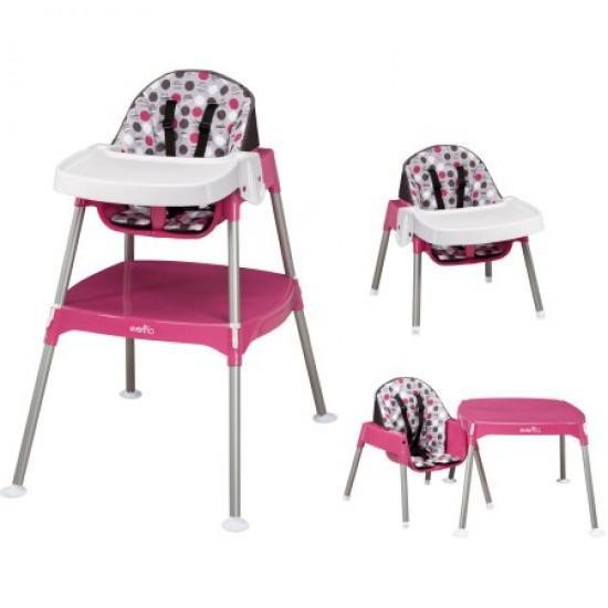 Evenflo 3-in-1 High Chair- Dottie Rose