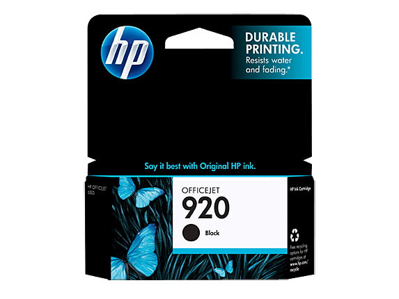 HP Genuine printer ink cartridge 920 Black