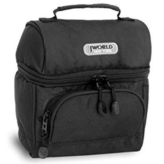 J World Insulated Lunch Bag- Black