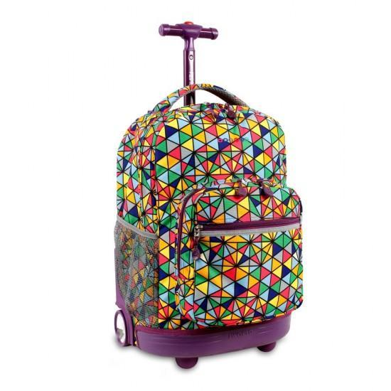 J World NY 18inch Rolling Backpack- Prizm
