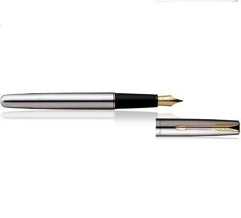 Parker Fountain pen Stainless Steel Gold Trim