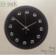 Portable round face wall clock