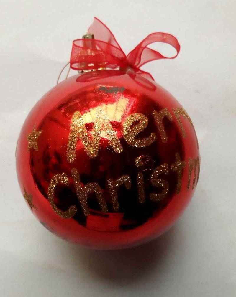 Single Red Christmas Hanging Bauble