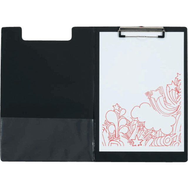 Soft Cover Clipboard File A4 Size - Black