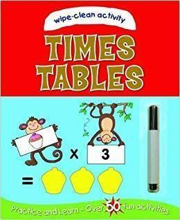 Times Tables Wipe-Clean Activity Book