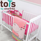 Tots By Smartrike Crib Bedding Set - Hippo Pink