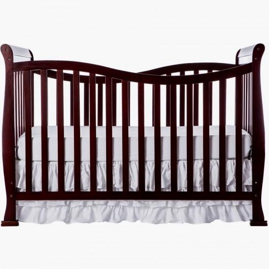 Violet 7 in 1 White Convertible Crib with Free Mattress and Pillow Espresso