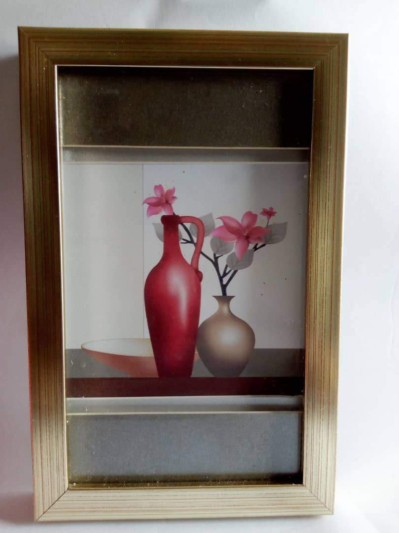 Wooden Art Wall Frame Gold Rim