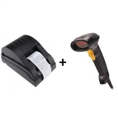 Xprinter POS Kit - 58mm Printer & Barcode Scanner