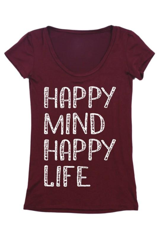 Happy Mind Happy Life Tee