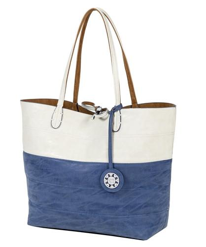 Colorblock Reversible Tote