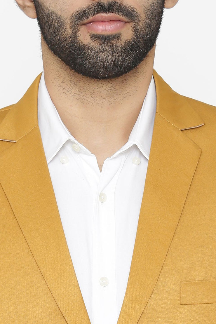 Polyester Cotton Brown Blazer