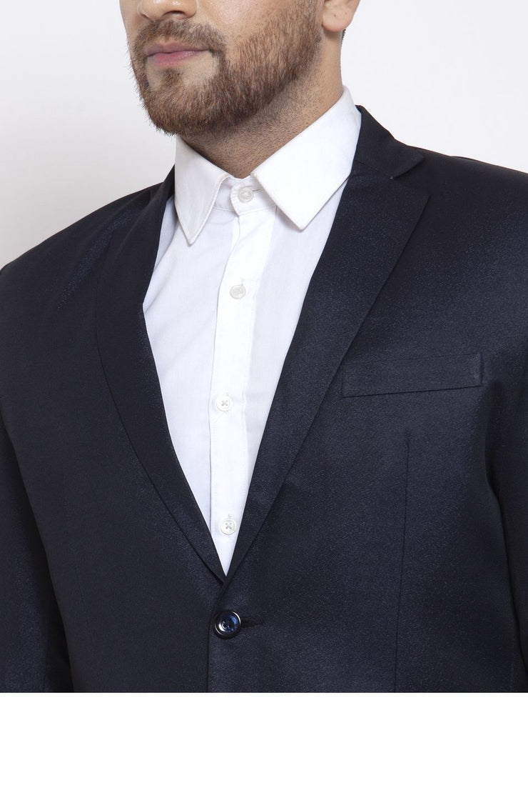 Wintage Men's Poly Blend and Evening 2 Pc Suit : Dark Blue