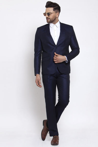 Wintage Men's Poly Blend and Evening 2 Pc Suit : Navy Blue