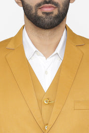 Polyester Cotton Brown Suit