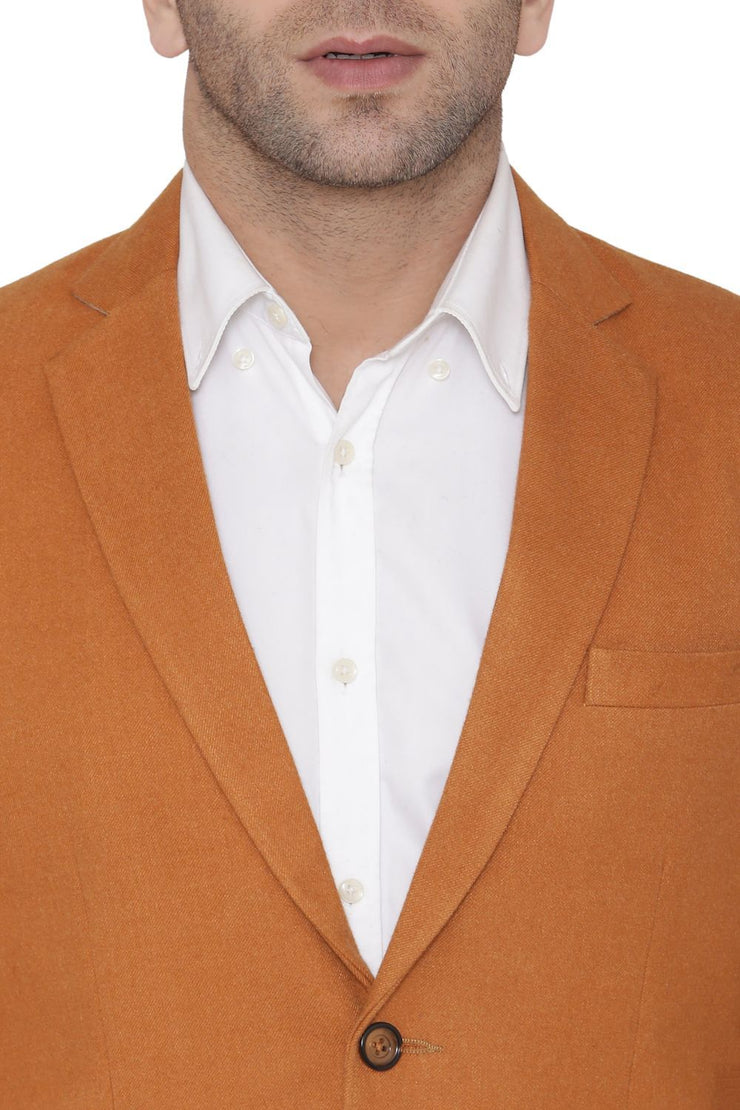 Wool Orange Blazer