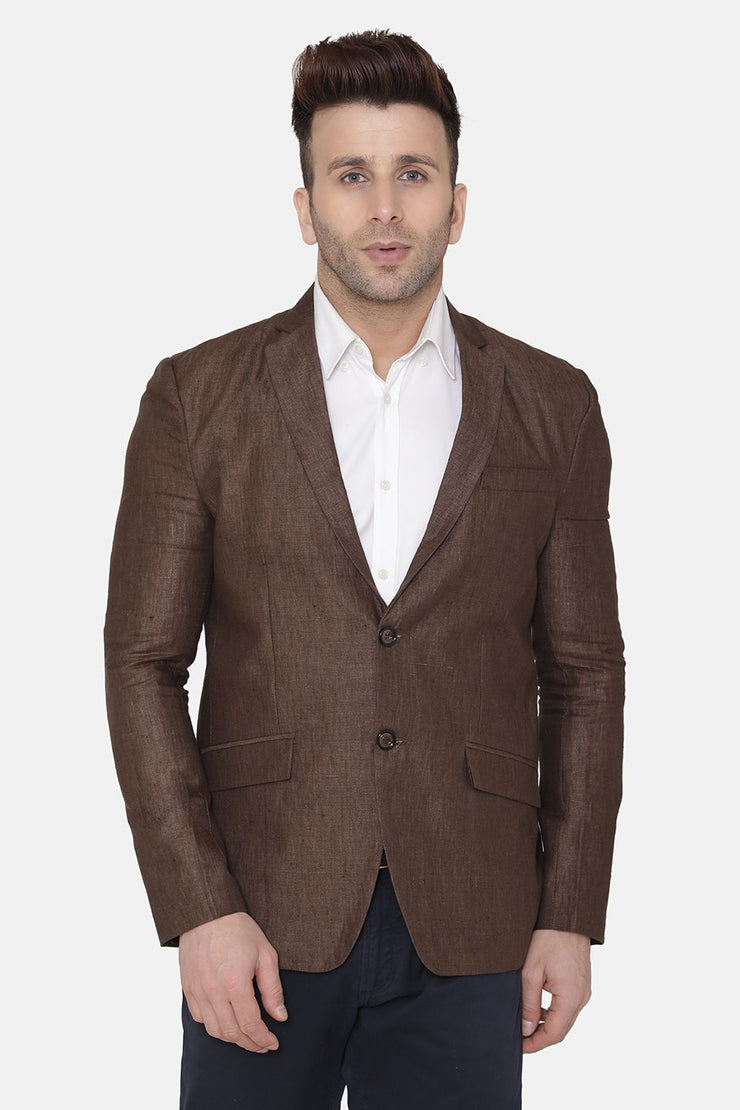 Linen Brown Blazer