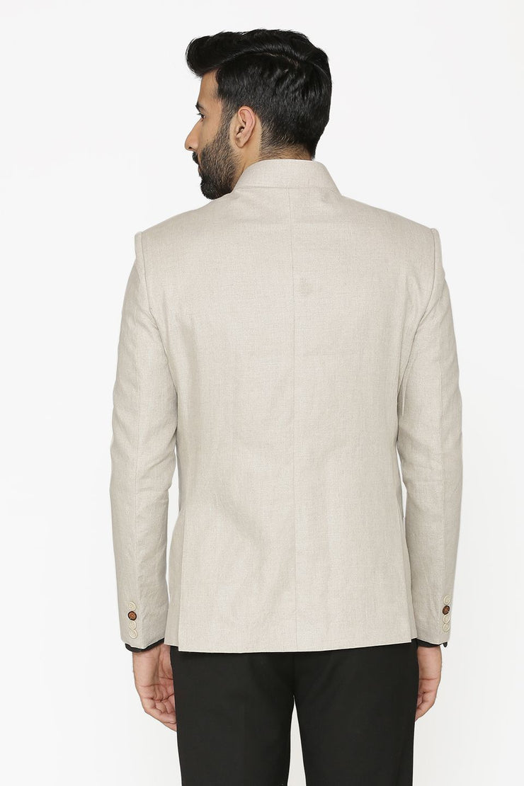 100% Linen White Blazer Coat Jacket