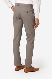 Wintage Men's Grey Regular Fit Chinos 100% Cotton Twill Stretch Trousers