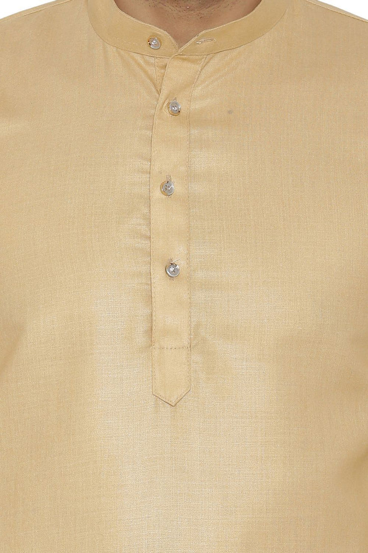 Cotton Silk Blend Beige Kurta Shirt