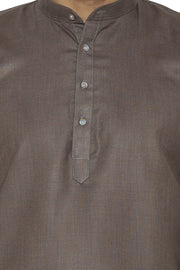 Cotton Silk Blend Green Kurta Shirt