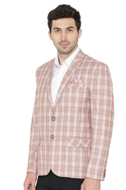 Polyester Cotton Light Brown  Blazer