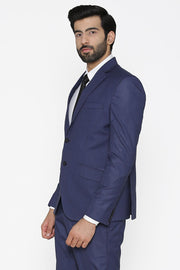 Polyester Cotton Blue Blazer