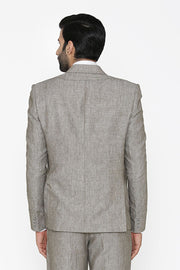 100% Pure Linen by Linen Club Silver Blazer