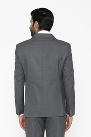 Poly Cotton Grey Blazer