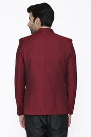 Pashima and Wool Red Blazer