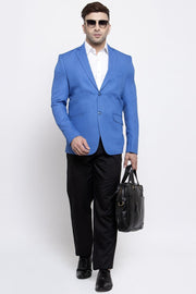 WINTAGE Men's Polyester Cotton Festive and Casual Blazer Coat Jacket : BeigeLue